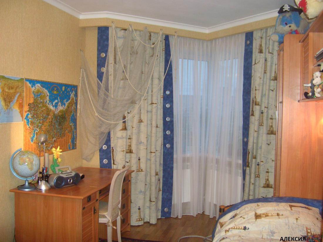 Дизайн штор для спальни мальчика подростка фото